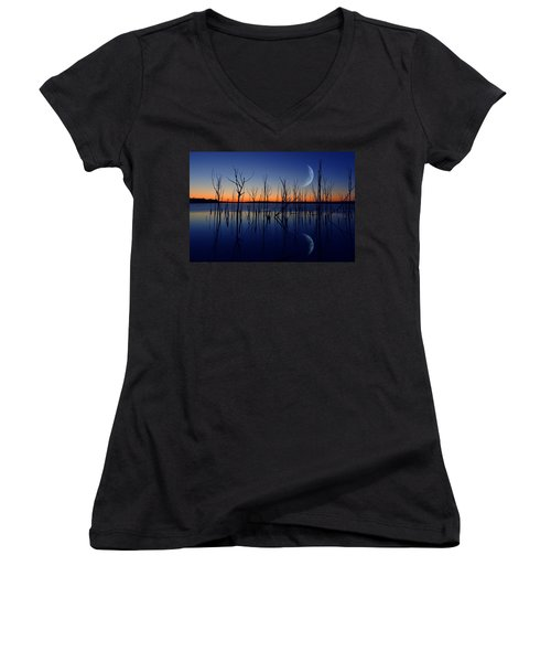The Crescent Moon Women's V-Neck T-Shirt