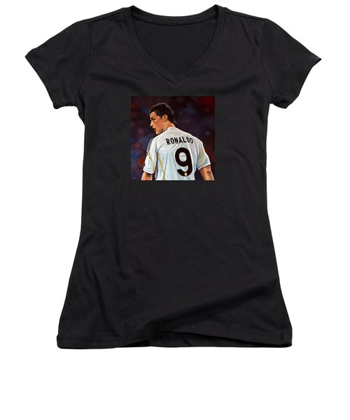 Cristiano Ronaldo Women's V-Neck (Athletic Fit)