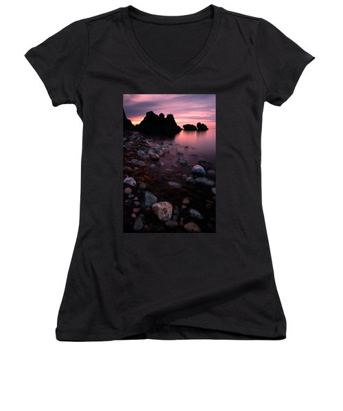 Cromarty Sunrise Women's V-Neck (Athletic Fit)