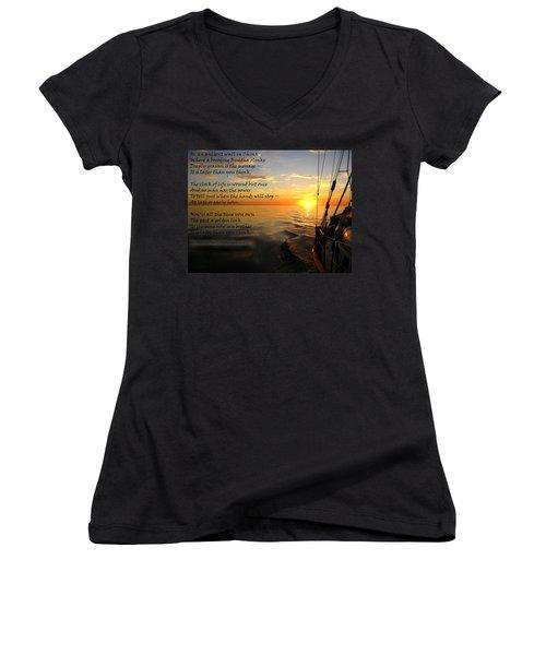 Cruising Poem Women's V-Neck T-Shirt