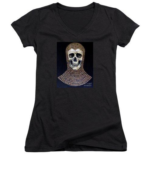 Crusader Women's V-Neck T-Shirt (Junior Cut) by Arturas Slapsys