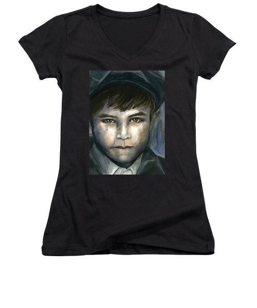 Crying In The Shadows Women's V-Neck