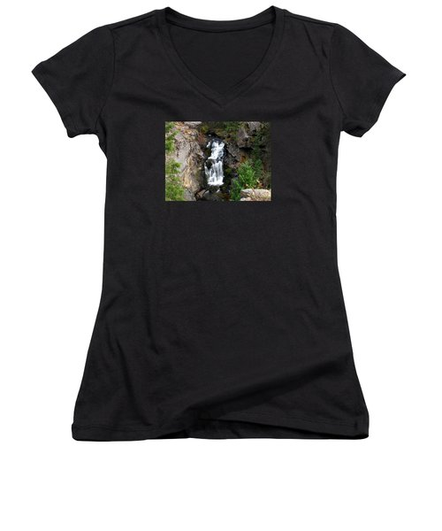 Crystal Falls Women's V-Neck T-Shirt