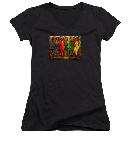 Cubism Dance  Women's V-Neck T-Shirt