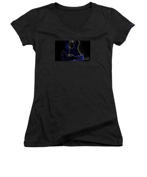 Women's V-Neck T-Shirt (Junior Cut) featuring the photograph Curves by Randi Grace Nilsberg
