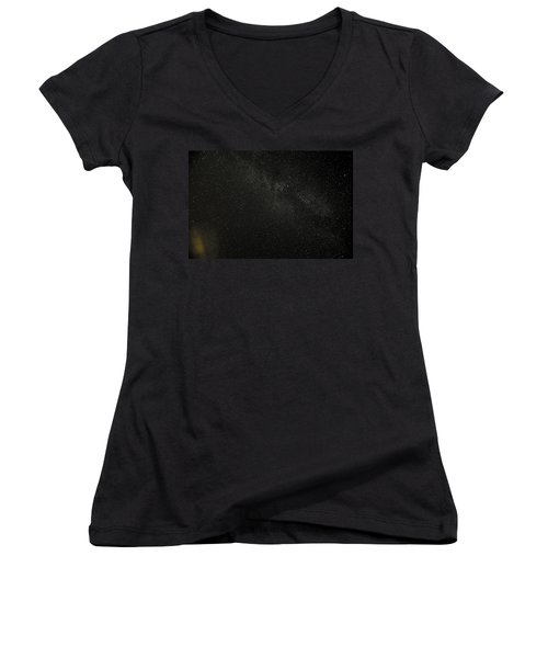 Women's V-Neck T-Shirt (Junior Cut) featuring the photograph Cygnus  Deneb  Vega by Greg Reed