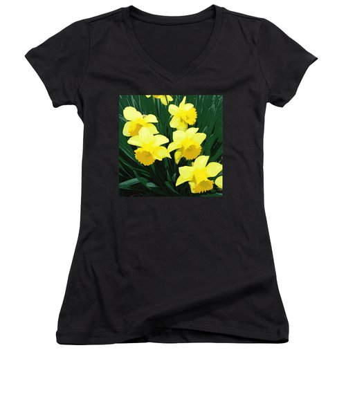 Daffodil Song Women's V-Neck (Athletic Fit)