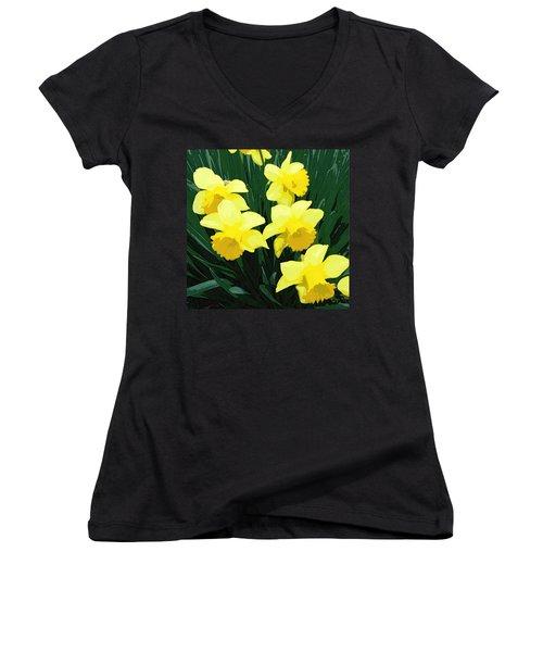 Daffodil Song Women's V-Neck T-Shirt
