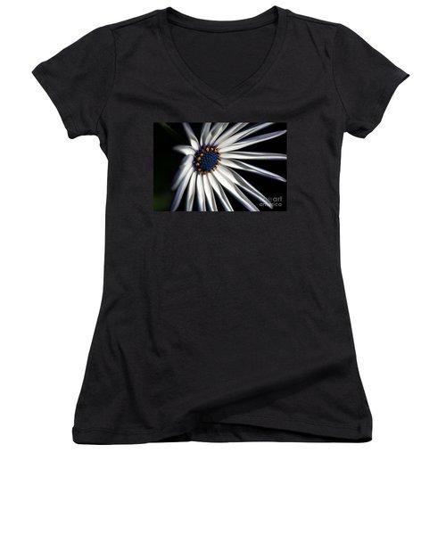Women's V-Neck T-Shirt (Junior Cut) featuring the photograph Daisy Heart by Joy Watson