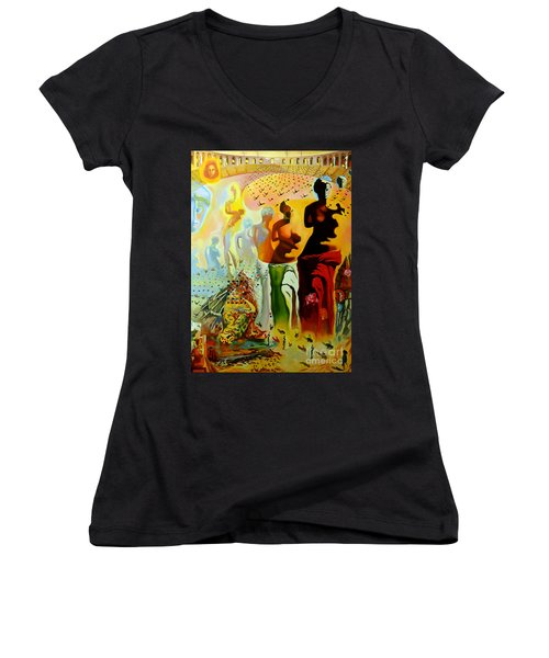 Dali Oil Painting Reproduction - The Hallucinogenic Toreador Women's V-Neck (Athletic Fit)