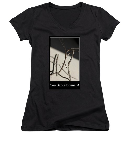Dance Women's V-Neck T-Shirt (Junior Cut) by Betty Northcutt