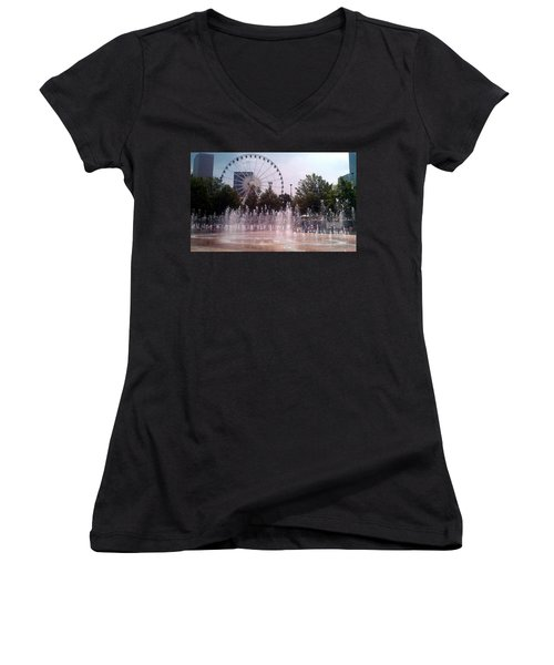 Dancing Fountains Women's V-Neck