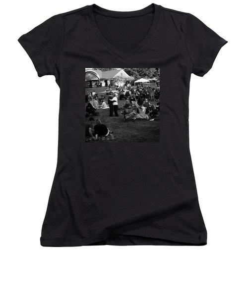 Dancing In The Park Women's V-Neck T-Shirt