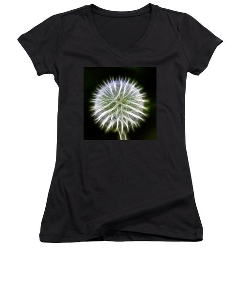 Dandelion Abstract Women's V-Neck (Athletic Fit)