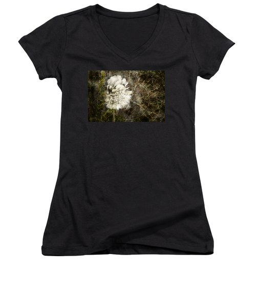 Dandelions Don't Care About The Time Women's V-Neck