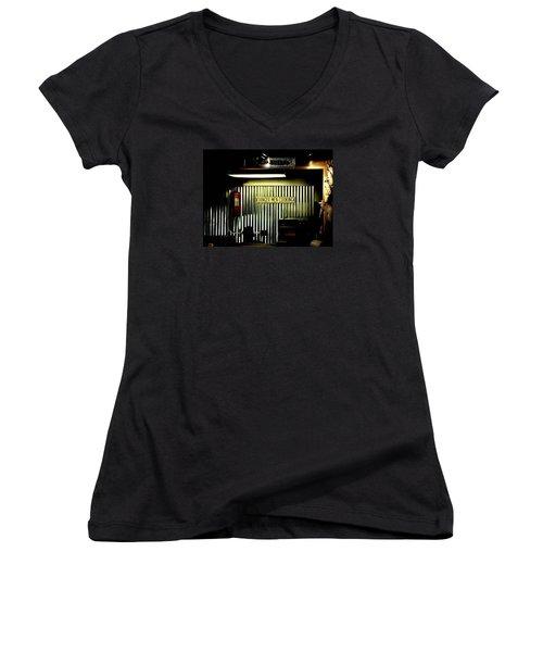 Danger Men Cooking Women's V-Neck T-Shirt (Junior Cut) by Chris Berry