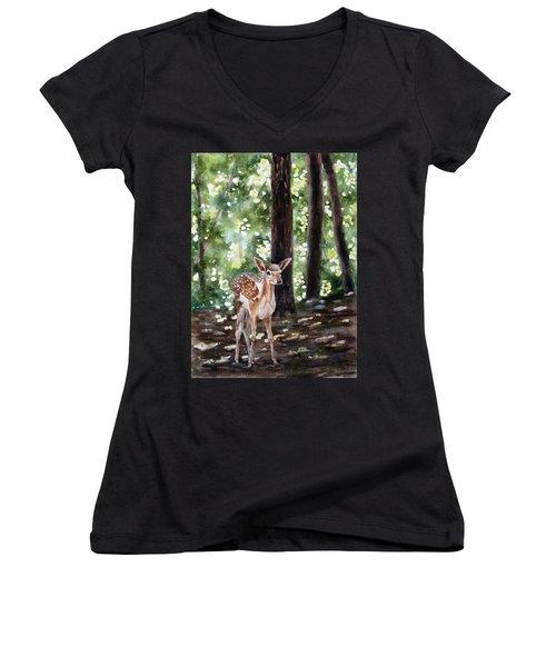 Dappled Innocence Women's V-Neck T-Shirt