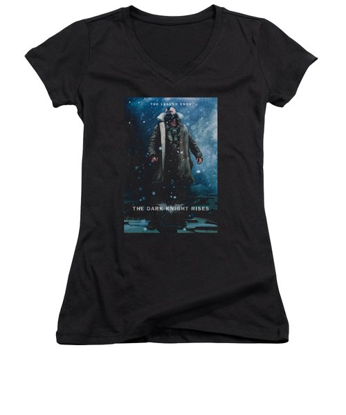 Dark Knight Rises - Bane Poster Women's V-Neck (Athletic Fit)