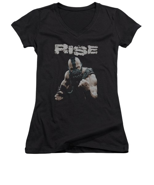 Dark Knight Rises - Rise Women's V-Neck (Athletic Fit)