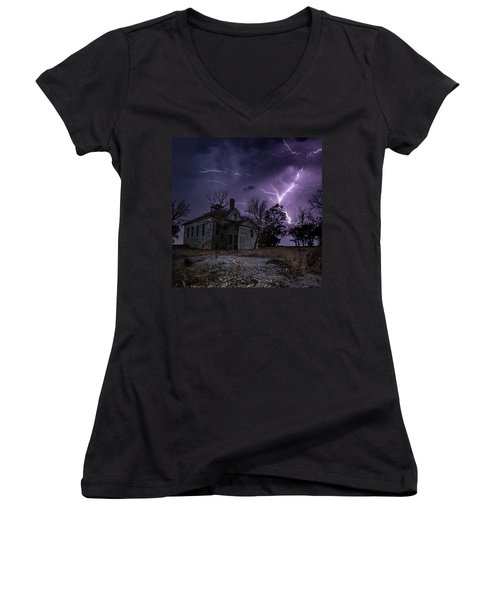 Dark Stormy Place Women's V-Neck