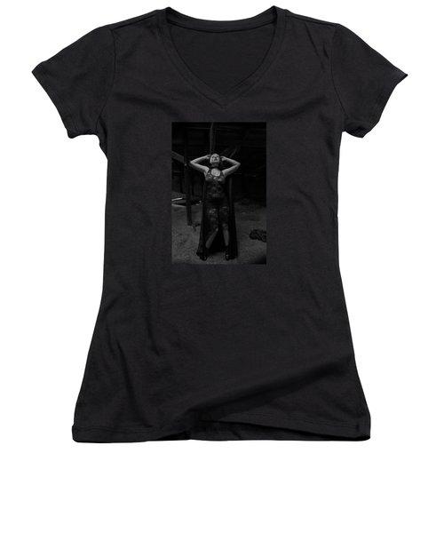 Dark Witch's Yearning Women's V-Neck T-Shirt (Junior Cut)