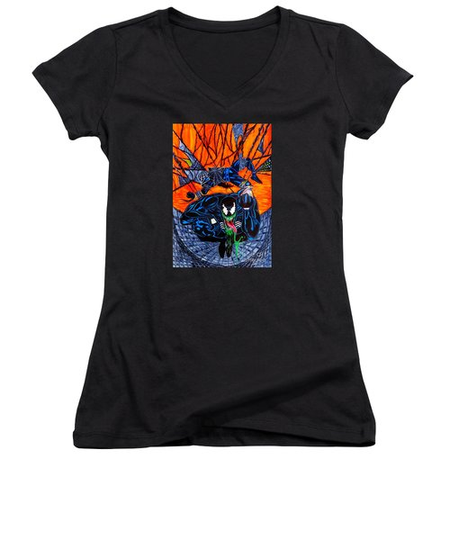 Darkhawk Issue 13 Homage Women's V-Neck T-Shirt