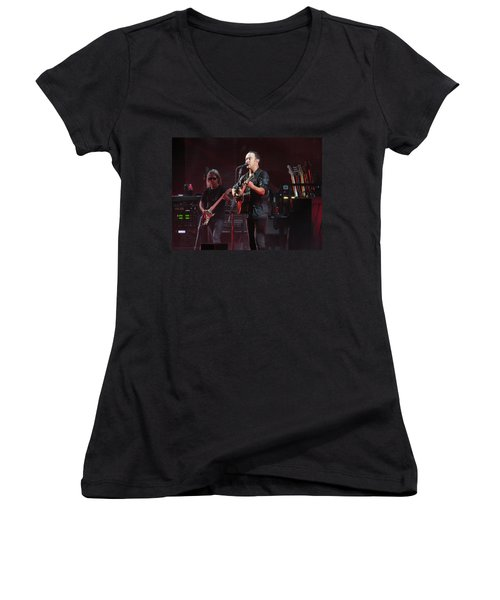 Dave Matthews Live Women's V-Neck T-Shirt (Junior Cut) by Aaron Martens