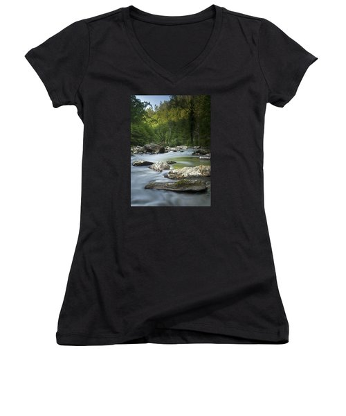 Daybreak In The Valley Women's V-Neck (Athletic Fit)