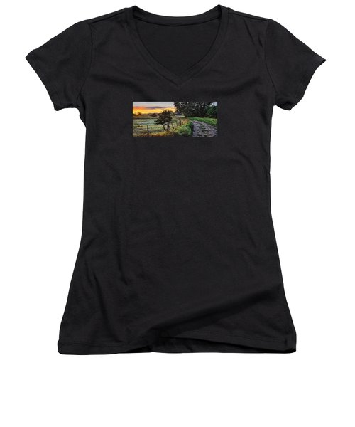 Daybreak Southwest Corner Fenceline Women's V-Neck (Athletic Fit)
