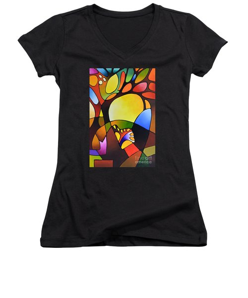 Daydream Canvas Three Women's V-Neck (Athletic Fit)