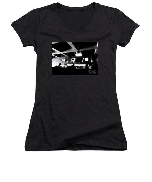 Women's V-Neck T-Shirt (Junior Cut) featuring the photograph Dayhawks by Amar Sheow