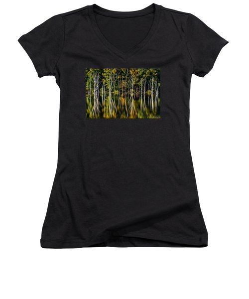 Deadwood Women's V-Neck T-Shirt (Junior Cut) by Mihai Andritoiu