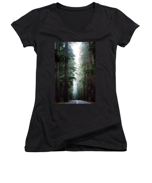 Deep In The Forest Women's V-Neck T-Shirt (Junior Cut)