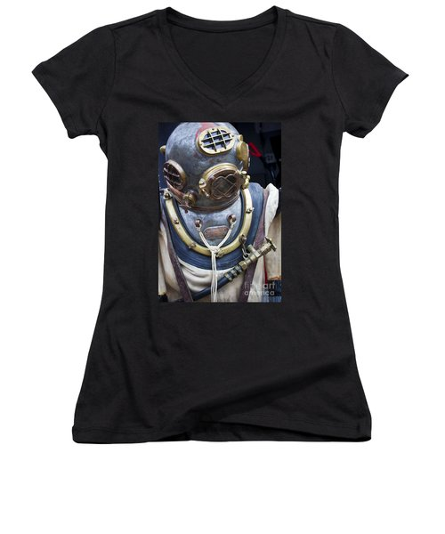 Deep Sea Diving Gear Women's V-Neck (Athletic Fit)