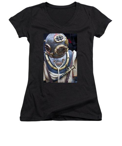 Deep Sea Diving Gear Women's V-Neck T-Shirt