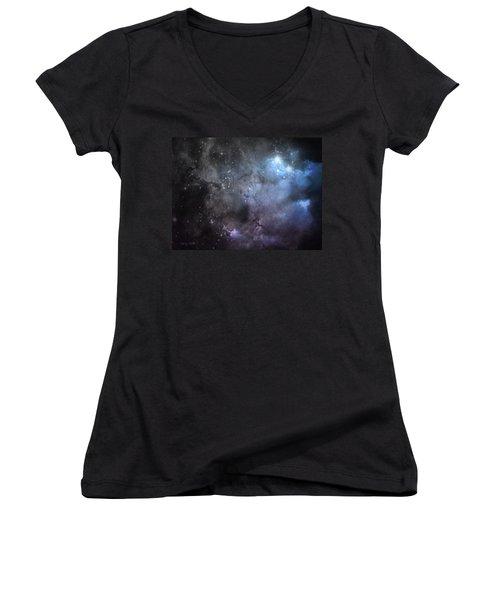 Deep Space Women's V-Neck T-Shirt (Junior Cut) by Cynthia Lassiter