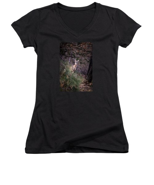 Deer's Stomping Grounds. Women's V-Neck (Athletic Fit)