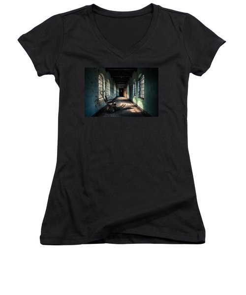 Dentists Chair In The Corridor Women's V-Neck