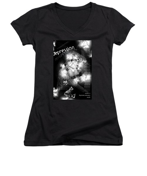 Depression Erodes My Mind Women's V-Neck (Athletic Fit)