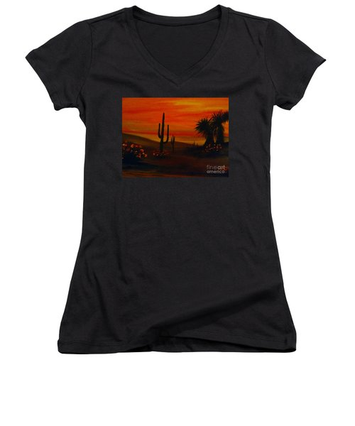 Desert Dance Women's V-Neck (Athletic Fit)