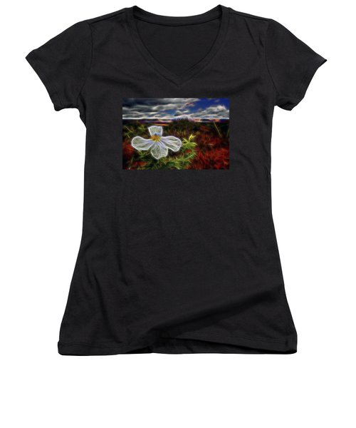 Desert Primrose 1 Women's V-Neck T-Shirt