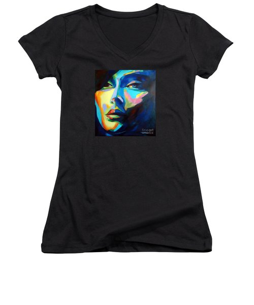 Desires And Illusions Women's V-Neck T-Shirt (Junior Cut) by Helena Wierzbicki