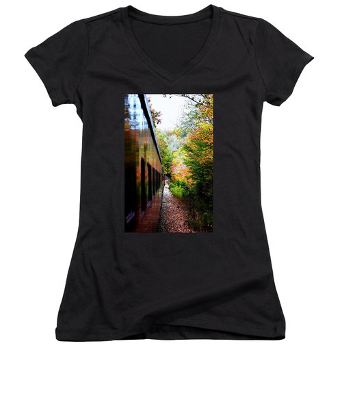 Women's V-Neck T-Shirt (Junior Cut) featuring the photograph Destination by Faith Williams