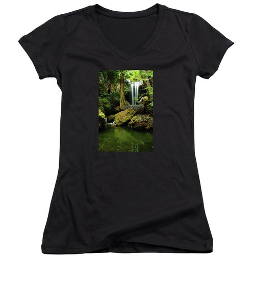 Devil Creek Falls  Women's V-Neck (Athletic Fit)