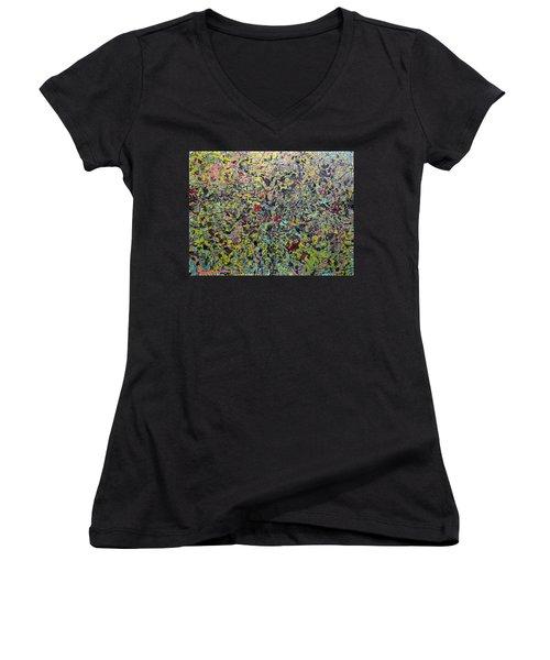 Devisolum Women's V-Neck T-Shirt (Junior Cut) by Ryan Demaree