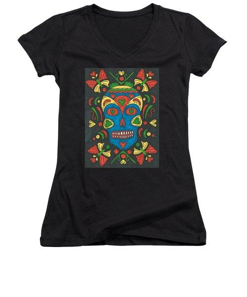 Dia De Los Muertos Women's V-Neck T-Shirt