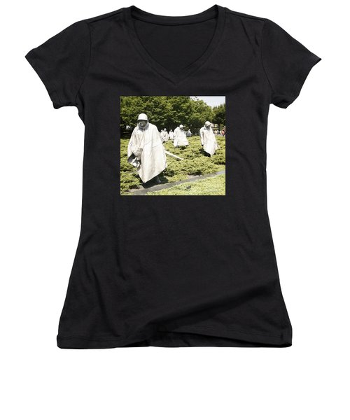 Women's V-Neck T-Shirt (Junior Cut) featuring the photograph Different Realities by Carol Lynn Coronios