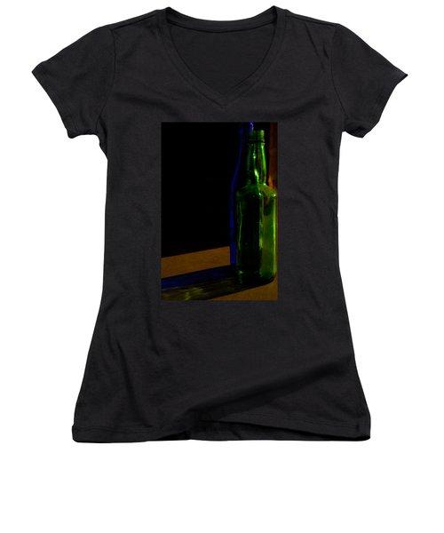 Discarded Bottles 2 Women's V-Neck T-Shirt (Junior Cut) by Mark Alder