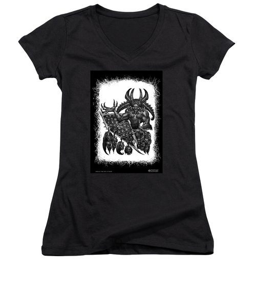 Display The Sins At Hand Women's V-Neck