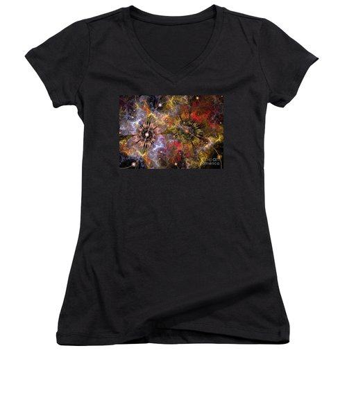 Distant Cosmos Women's V-Neck (Athletic Fit)